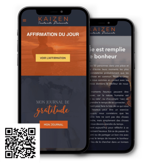 Application mobile Journal de gratitude